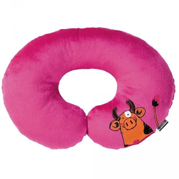 【JAKO-O】動物兒童頸枕-桃紅 德國,JAKO-O,一枕多用,療癒舒壓,夜晚好入眠,提供安全感,柔軟舒適,抱枕,生活家居
