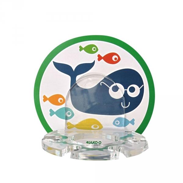 【JAKO-O】海底世界鯨魚壁貼牙刷架(可重複黏貼) 刷牙,兒童牙膏,兒童牙刷,塗氟