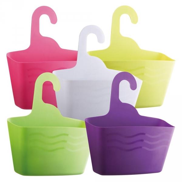 【JAKO-O】萬用防水收納掛籃組-粉/紫色(5入) 收納,籃子,盥洗用品