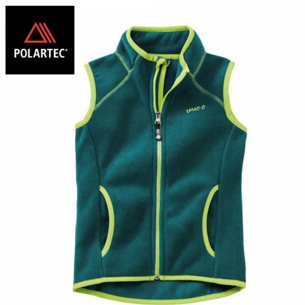 【JAKO-O】POLARTEC®保暖背心(深綠) 機能外套,兒童背心,POLARTEC