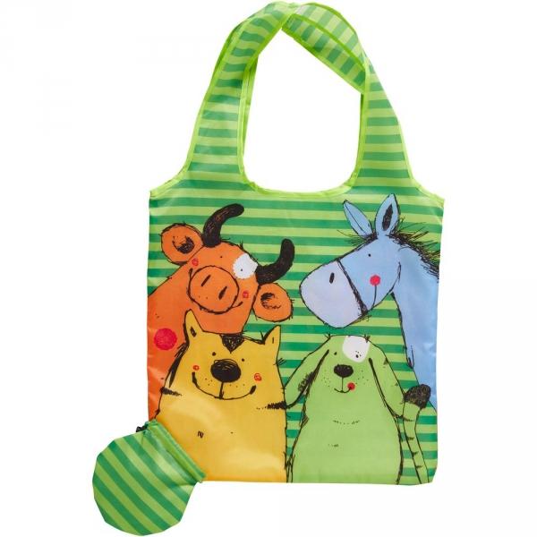 【JAKO-O】動物派對收納巧折袋 購物袋,收納袋