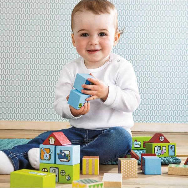 【JAKO-O】HABA 動物城市積木 積木,紙積木,益智玩具,認識數字