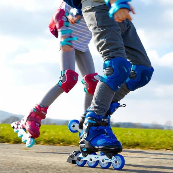 【JAKO-O】運動護具-藍色(S-M) JAKO-O,幼兒運動,護具,護膝,護肘,護腕,直排輪,滑板車,滑步車