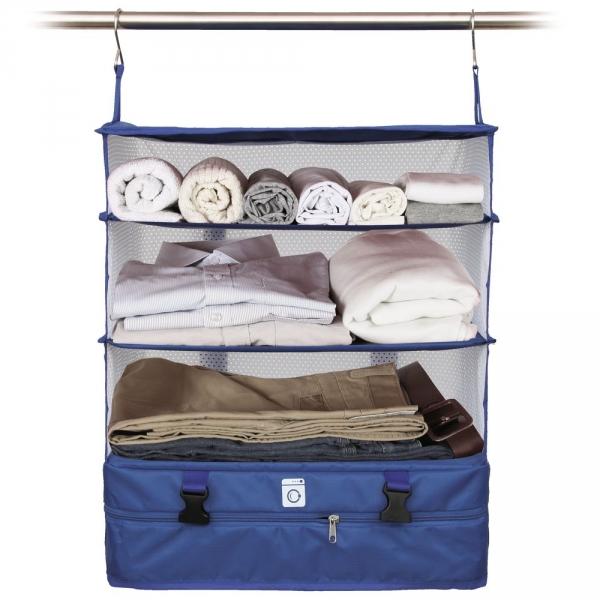【JAKO-O】行李分層收納掛架(大)-藍色 置物架,架子