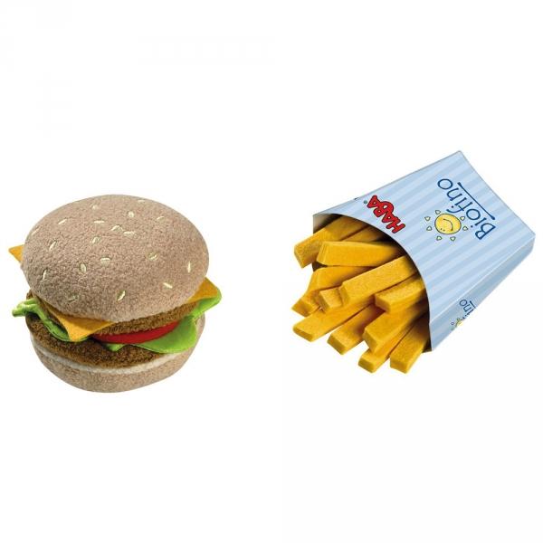【JAKO-O】HABA 廚房遊戲–漢堡薯條 積木,玩具,益智玩具,廚房