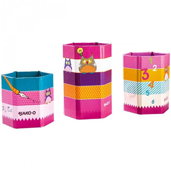 【JAKO-O】磁性筆筒組-貓頭鷹(3入) 德國,JAKO-O,文具,筆,筆筒,資料夾,分類夾,