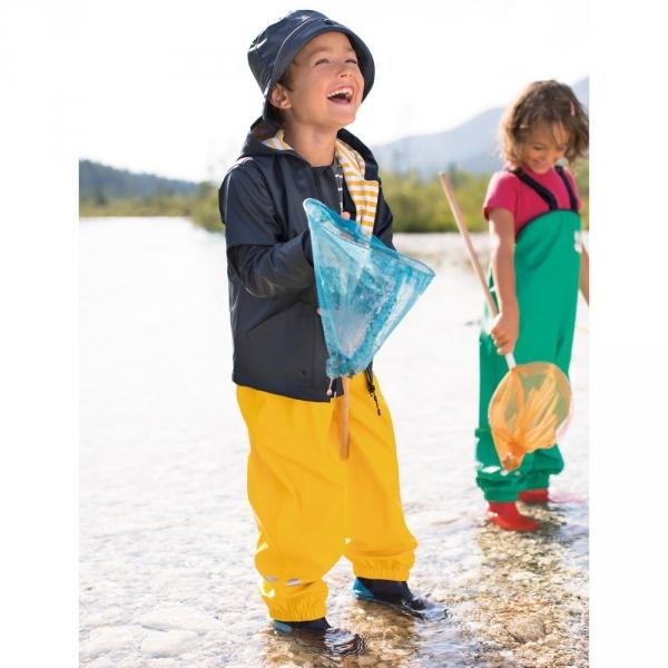 【JAKO-O】戶外防水吊帶褲-耀眼黃 (兒童雨褲/防水褲) 幼童服飾,童裝,雨褲