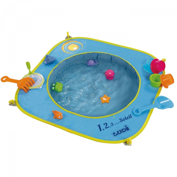 【JAKO-O】 沙坑泳池-含13件玩具組(沙灘戲水/小泳池) JAKO-O,夏日戲水,海灘,玩沙,BABY,沙坑,沙雕,戲水,玩具,游泳,泳池