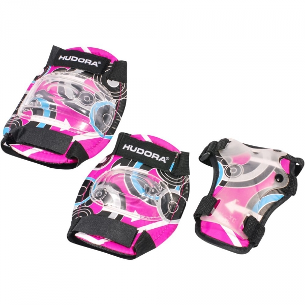 【JAKO-O】HUDORA迷彩護具套組-粉(S-M) JAKO-O,幼兒運動,護具,護膝,護肘,護腕,直排輪,滑板車,滑步車