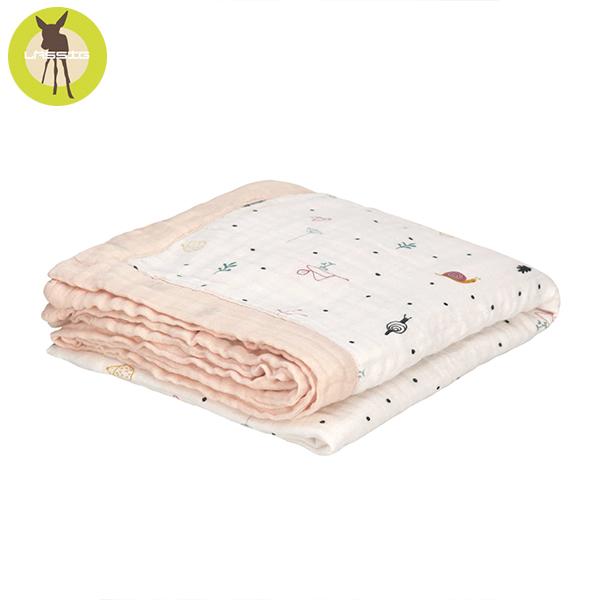 德國LASSIG-超柔手感竹纖維三層紗多功能毯-莓果花園 竹纖維,德國lassig