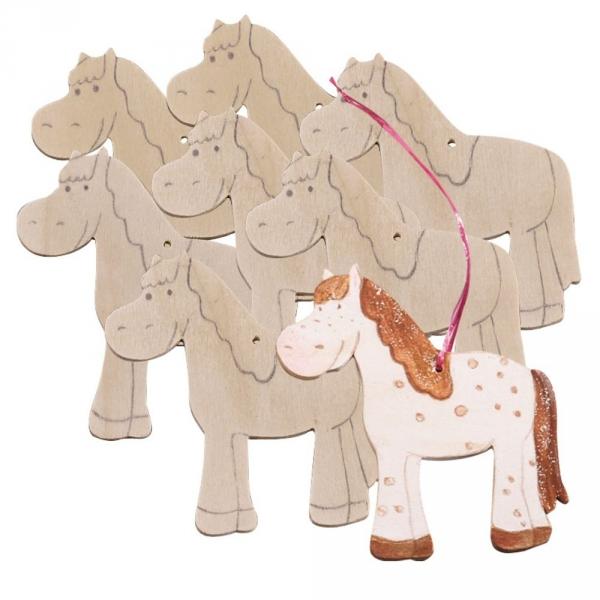 【JAKO-O】DIY造型著色版-馬駒(8入) 美勞手作,畫畫,DIY