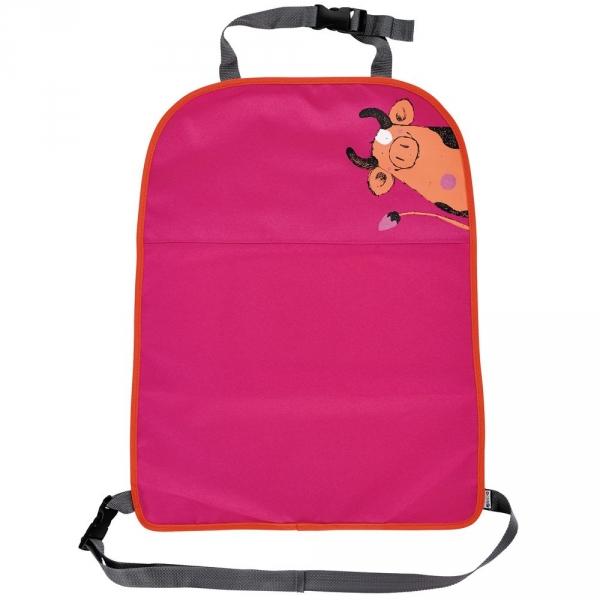 【JAKO-O】汽車座椅防踢保護板-桃紅 椅背,保護墊,防護墊