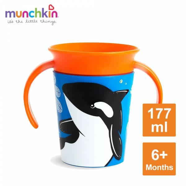 360度繽紛防漏練習杯177ml-虎鯨 水杯 訓練杯 喝水 幼童 動物