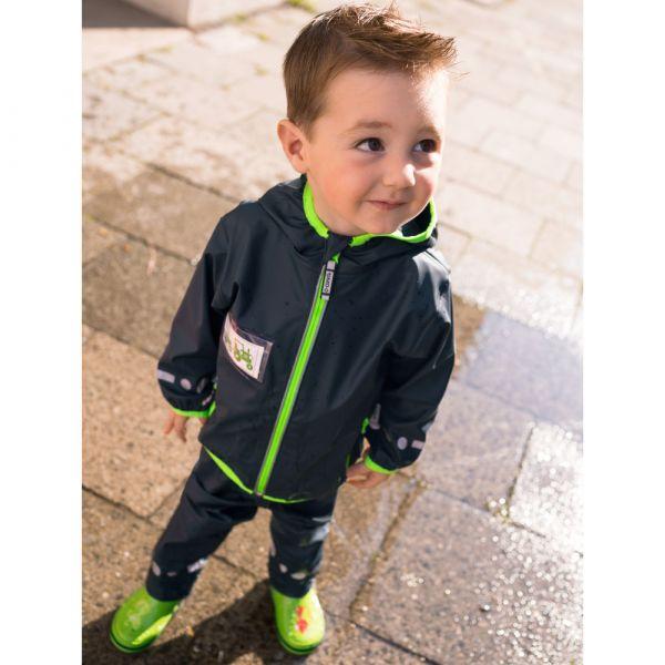 【JAKO-O】防雨連帽夾克-深藍 (兒童雨衣外套) 幼童服飾,童裝,防水外套