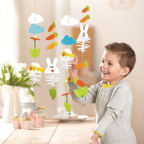 【JAKO-O】創意手作吊飾組–復活節主題 兒童創意手作,親子關係,DIY,蛋蛋,復活節,兔兔