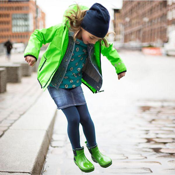 【JAKO-O】防雨連帽夾克-萊姆綠 (兒童雨衣外套) 幼童服飾,童裝,防水外套