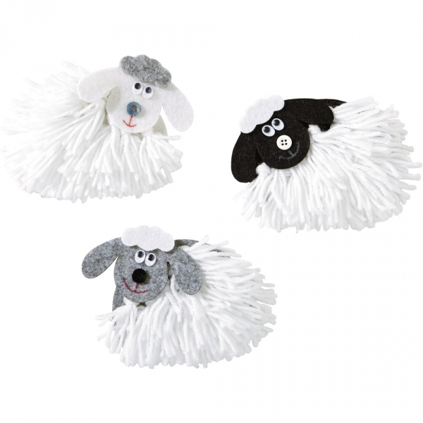 【JAKO-O】創意手作組–毛線綿羊(3入) 兒童創意手作,親子關係,DIY,蛋蛋,復活節,兔兔