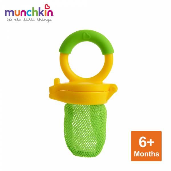 munchkin滿趣健-新鮮食物咬咬訓練器-綠 幼童 餵食 吸盤碗 不倒