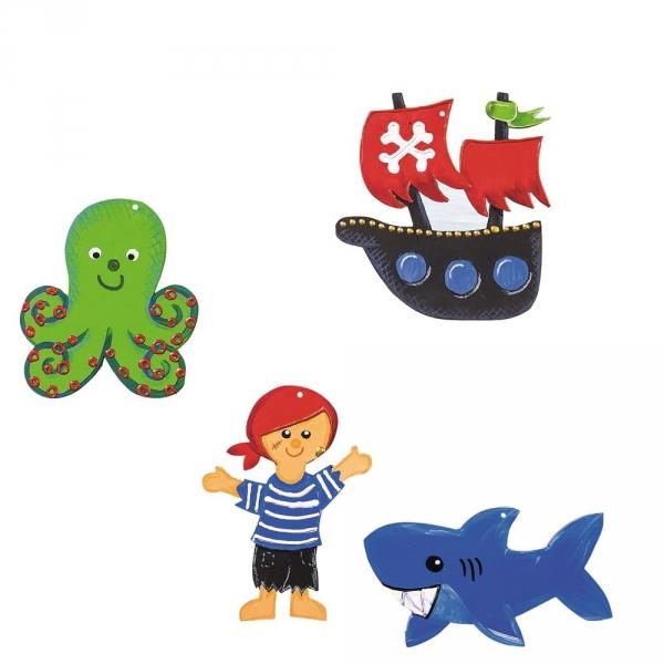 【JAKO-O】DIY造型著色版-航海冒險(12入) 手作,創作,兒童勞作,紀念品,禮品