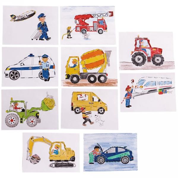 【JAKO-O】交通工具創意繪畫紙卡 手作,創作,兒童勞作,紀念品