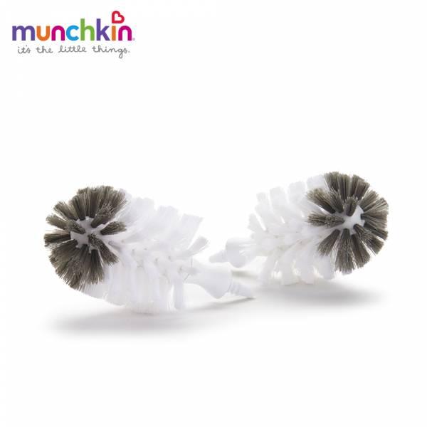 munchkin滿趣健 不鏽鋼奶瓶刷-替換刷頭2入【團購限定】 水杯 訓練杯 喝水 幼童 運動
