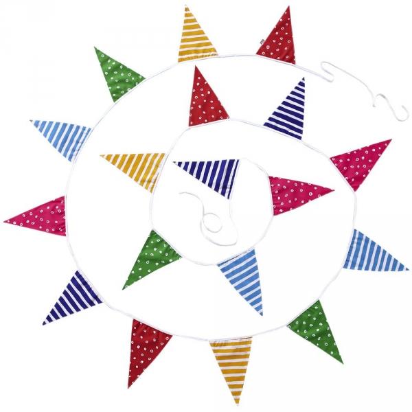 【JAKO-O】繽紛花樣三角旗幟 生日,派對,聚會,創作,客製,兒童勞作,