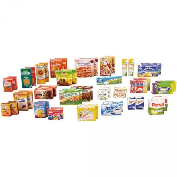【JAKO-O】商店遊戲組-紙盒商品50件組 家家酒,超市,超級市場,益智玩具
