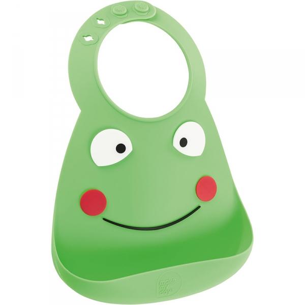 【JAKO-O】可愛造型矽膠圍兜兜-青蛙 圍兜兜,立體圍兜,矽膠圍兜,安全無毒,口水袋,德國,JAKO-O,新生兒,嬰幼兒,育兒