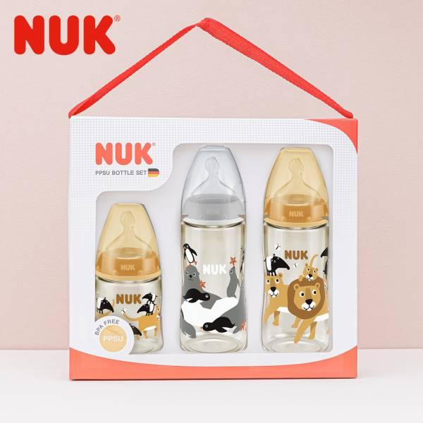 德國NUK-新生兒動物系PPSU奶瓶禮盒組
