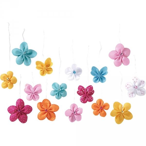 【JAKO-O】創意毛氈手作組–花朵吊飾(18入) 兒童創意手作,親子關係,DIY,蛋蛋,復活節,兔兔