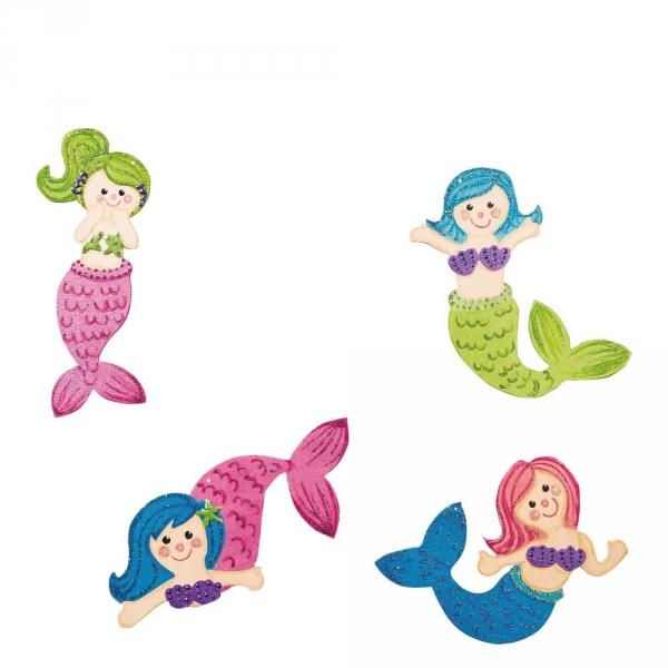 【JAKO-O】DIY造型著色版-美人魚(12入) 手作,創作,兒童勞作,紀念品,禮品