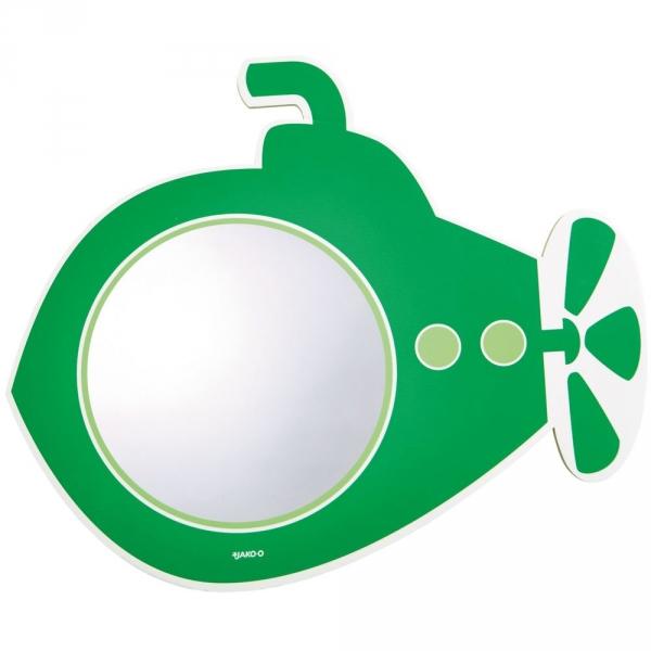 【JAKO-O】浴室壁貼鏡-潛水艇(可重複黏貼) 刷牙,兒童牙膏,兒童牙刷,塗氟
