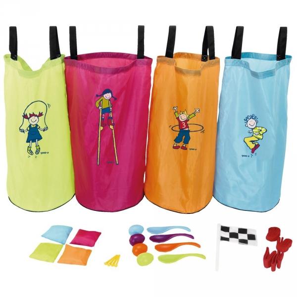 【JAKO-O】兒童遊戲組合(跳跳袋/兩人三腳/湯匙雞蛋/沙包擲遠)25件組 團康遊戲,袋鼠跳,兩人三腳,沙包