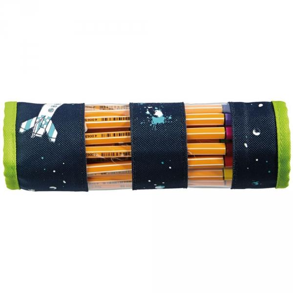 【JAKO-O】收納筆捲套-太空(收納筆袋) 德國,JAKO-O,文具,筆袋