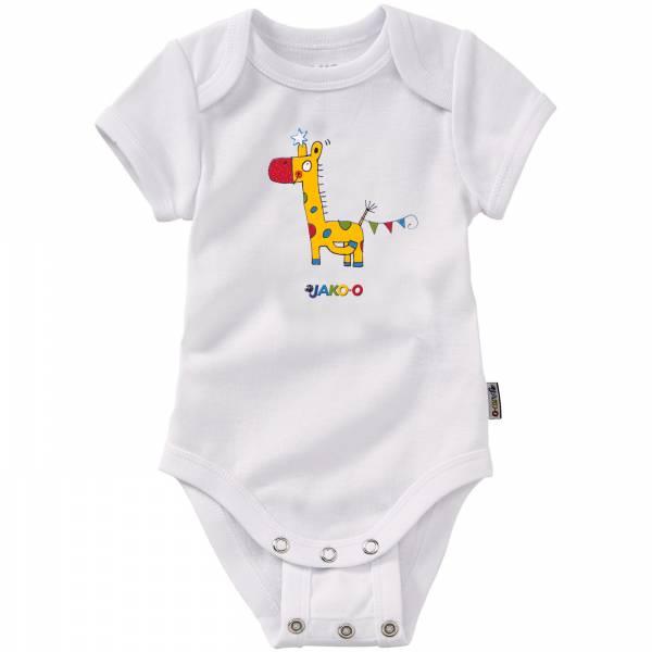 【JAKO-O】長頸鹿短袖調整釦連身衣 新生兒,內衣,包屁衣,包臀衣,連身衣,短袖,純棉