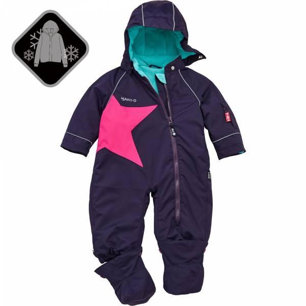 【JAKO-O】經典星星連身雪衣-深紫 (兒童雪衣)  雪衣外套,兒童雪衣,連身雪衣