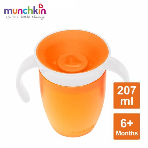 munchkin滿趣健-360度防漏練習杯207ml-橘 水杯 訓練杯 喝水 幼童 運動