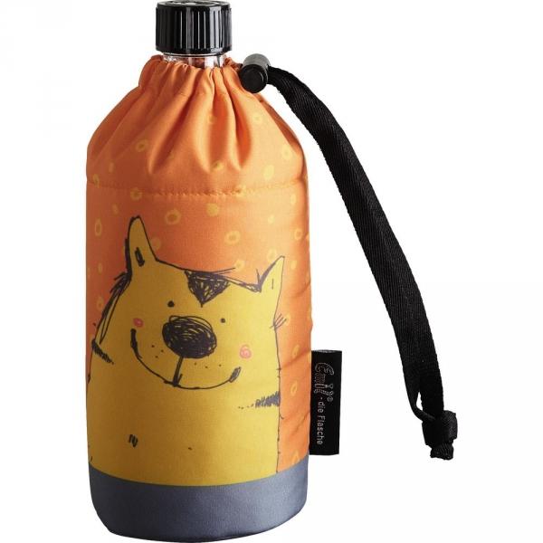 【JAKO-O】Emil®玻璃冷水壺附保護套400ml-貓 水杯,水壺,保冷杯