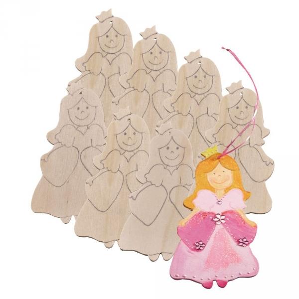 【JAKO-O】DIY造型著色版-公主(8入) 美勞手作,畫畫,DIY