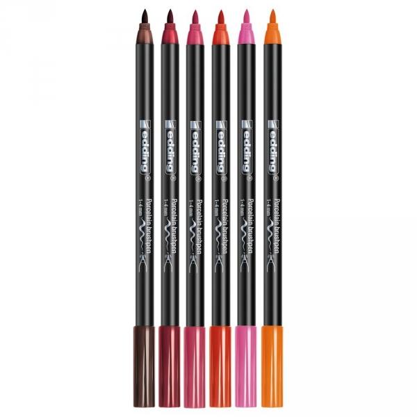 【德國威迪EDDING】瓷器彩繪色筆-紅色系(6色) JAKO-O,兒童創意手作,親子關係,DIY,生活藝術,創意diy,親子