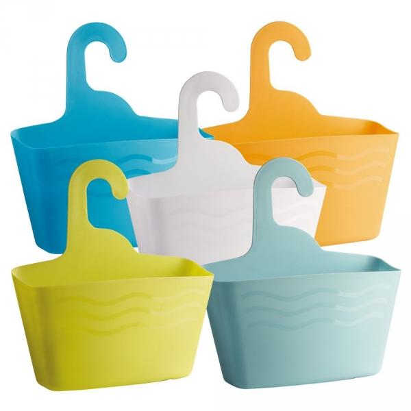 【JAKO-O】萬用防水收納掛籃組-藍/橙色(5入) 收納,籃子,盥洗用品