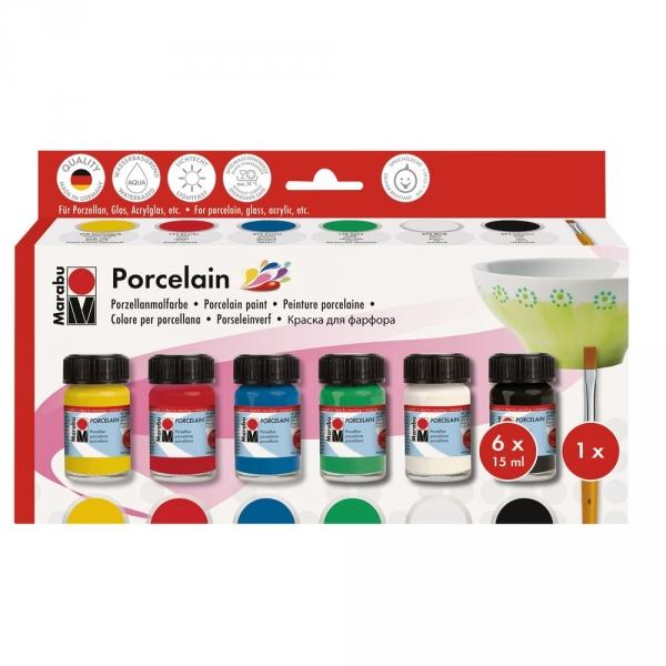 【德國MARABU】瓷器彩繪顏料(6色) JAKO-O,兒童創意手作,親子關係,DIY,生活藝術,創意diy,親子