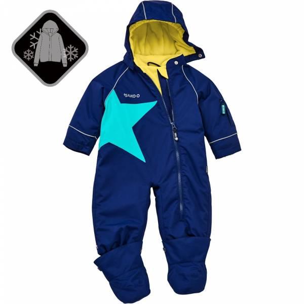 【JAKO-O】經典星星全身防護雪衣-深藍  (兒童雪衣) 雪衣外套,兒童雪衣,連身雪衣