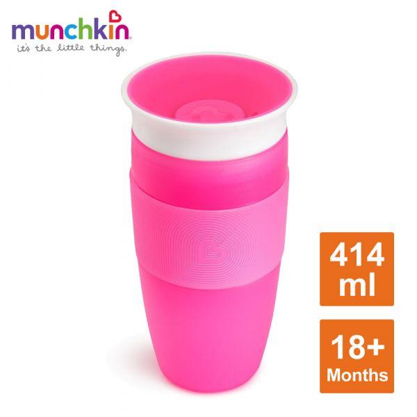 munchkin滿趣健-360度防漏杯414ml-粉 水杯 訓練杯 喝水 幼童 運動