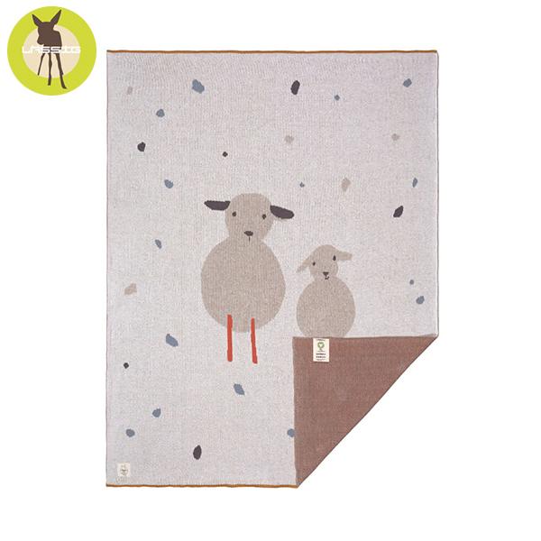 德國LASSIG-有機棉嬰兒毯-彩點羊羊 有機棉毯,德國lassig