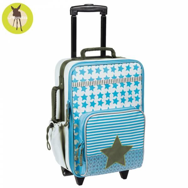 德國LASSIG-天空星星兒童拉桿行李箱-天空藍