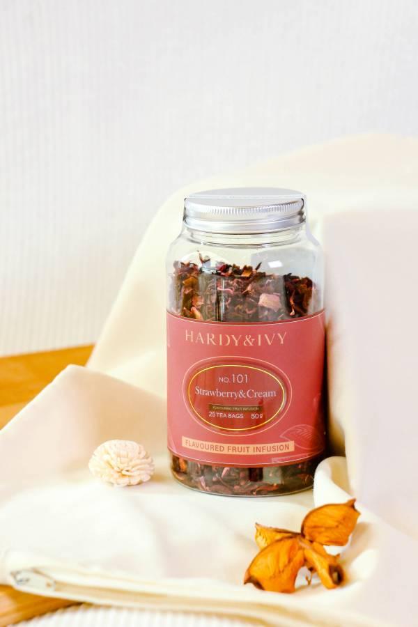 NO.101草莓奶油100g散茶果乾罐