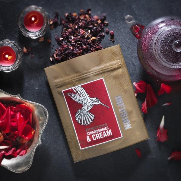 草莓奶油水果茶散茶包