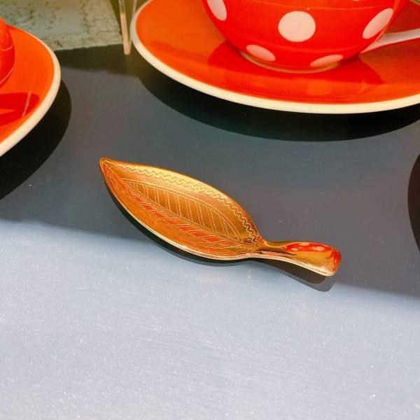葉子茶勺(金)