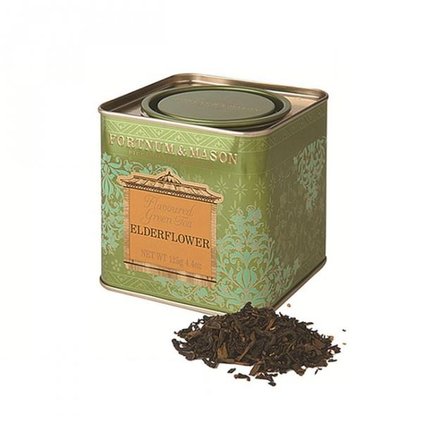 接骨木花綠茶罐